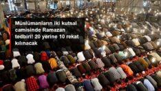 Mescid-i Haram ve Mescid-i Nebevi'de teravi namazları 20 yerine 10 rekat kılınacak