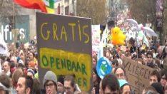 Belçika'da on binlerce kişi iklim değişikliğine karşı yürüdü
