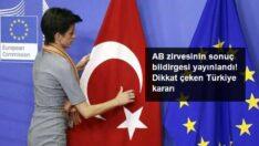 AB Liderler Zirvesi'nin ardından Türkiye açıklaması: İş birliğini geliştirmeye hazırız